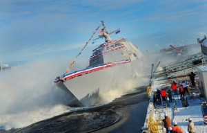 USS Milwaukee is launched