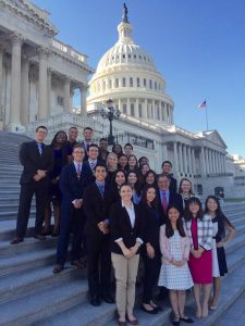 Panetta Institute 2016 Congressional interns join Secretary Panetta on the Capitol steps.