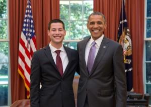 Steven Avila and President Obama