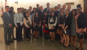 2016 Congressional interns with United States Representative Sam Farr