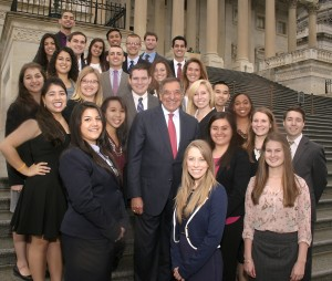 2014 Congressional interns with Secretary Panetta on the Capitol steps.