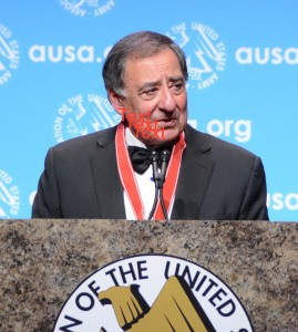 "Secretary Panetta was honored for his ""selfless service."""