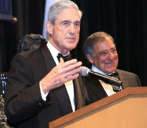 Former FBI Director Robert Mueller and Secretary Panetta.