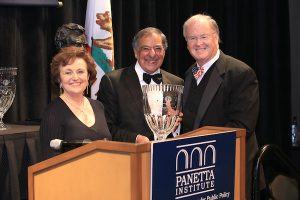 Congressman Sam Farr is honored by Secretary and Mrs. Panetta.