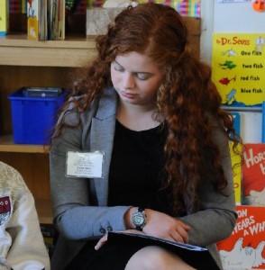 Luisa Alves volunteers in the Monterey County Reads program.